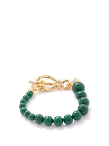 Missoma - Malachite & 18kt Gold-plated Bracelet - Womens - Green Gold