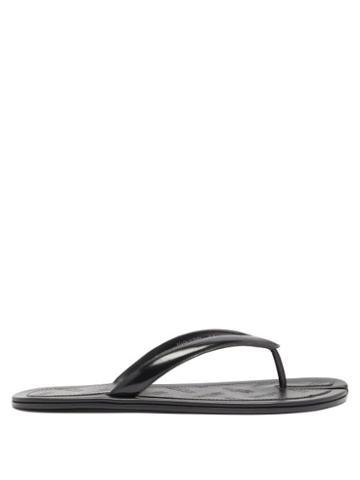 Matchesfashion.com Maison Margiela - Tabi Split-toe Leather Flip Flops - Mens - Black