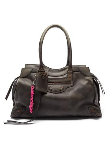 Balenciaga - Neo Classic City Large Leather Holdall - Mens - Black