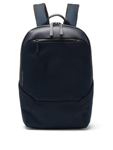 Matchesfashion.com Troubadour - Explorer Apex Grained-leather Backpack - Mens - Navy
