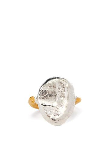 Alighieri - The Symbol Unknown 24kt Gold-plated Ring - Womens - Silver Gold