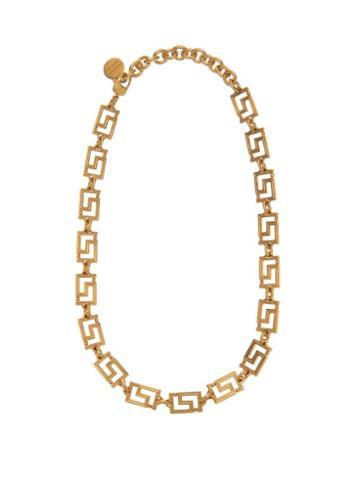 Matchesfashion.com Versace - Greca Chain Necklace - Womens - Gold
