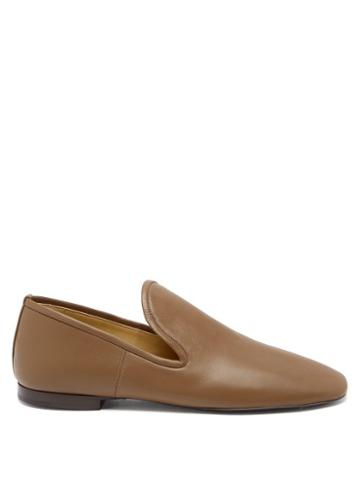 Matchesfashion.com Lemaire - Nappa-leather Loafers - Womens - Khaki