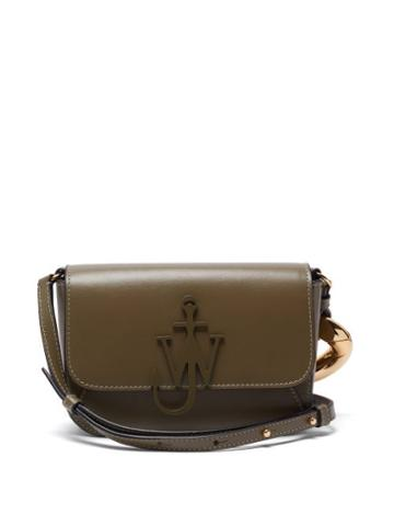 Matchesfashion.com Jw Anderson - Chain-strap Leather Cross-body Bag - Womens - Green Multi