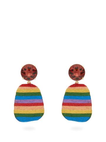 Matchesfashion.com Maryjane Claverol - After The Storm Crystal And Disc Drop Earrings - Womens - Multi