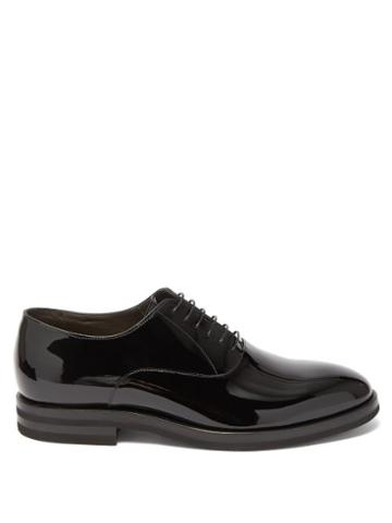 Matchesfashion.com Brunello Cucinelli - Patent-leather Oxford Shoes - Mens - Black