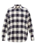 Matchesfashion.com Holiday Boileau - Checked Brushed Cotton Shirt - Mens - Navy Multi
