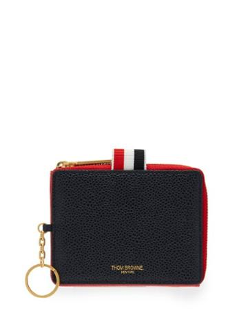 Matchesfashion.com Thom Browne - Pebbled Leather Wallet - Mens - Red Multi
