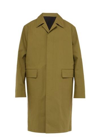 Matchesfashion.com Raey - Single Breasted Bonded Cotton Trench Coat - Mens - Khaki