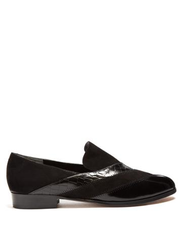 Robert Clergerie Atum Patchwork Suede Loafers