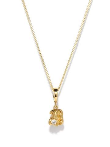 Azlee - Diamond & 18kt Gold Pendant Necklace - Womens - Yellow Gold