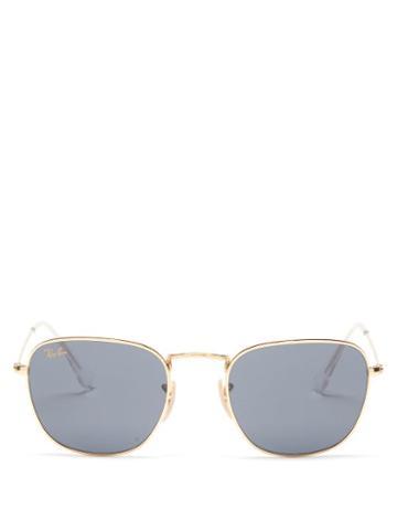 Ray-ban - Frank Polarised Metal Sunglasses - Womens - Black Gold