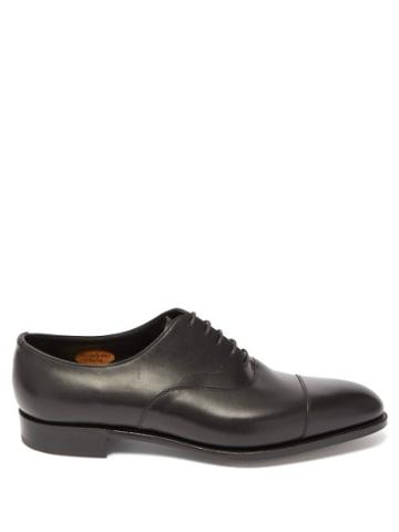 Matchesfashion.com Edward Green - Berkeley Leather Oxford Shoes - Mens - Black