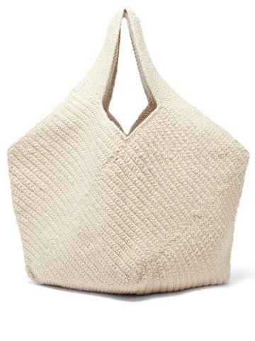 Lauren Manoogian - Pinwheel Hand-crocheted Cotton-blend Tote Bag - Womens - Beige