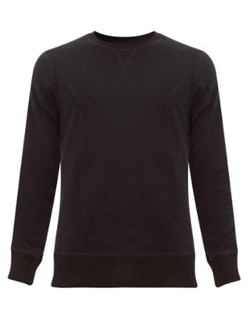 Matchesfashion.com Frescobol Carioca - Leblon Organic Cotton Sweatshirt - Mens - Black