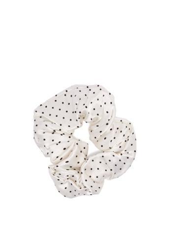 Matchesfashion.com Ganni - Polka Dot Hair Scrunchie - Womens - White
