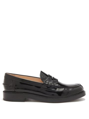 Tod's - Patent-leather Penny Loafers - Womens - Black