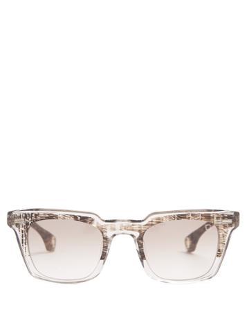 Blake Kuwahara Newell Rectangle-frame Acetate Sunglasses