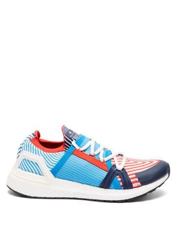 Matchesfashion.com Adidas By Stella Mccartney - Ultraboost 20 Stretch-knit Running Trainers - Womens - Blue Multi