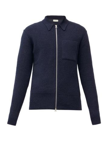 Matchesfashion.com Oliver Spencer - Tilson Zipped Wool Cardigan - Mens - Navy