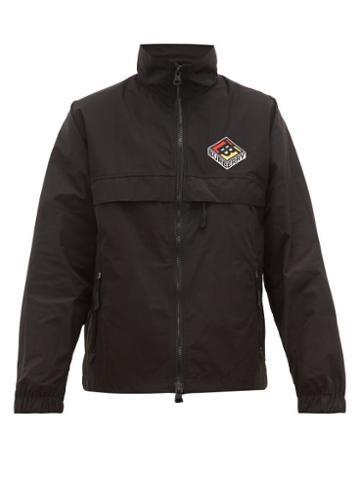Matchesfashion.com Burberry - Logo Embroidered Nylon Windbreaker - Mens - Black