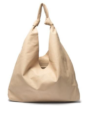 Matchesfashion.com The Row - Bindle Leather Tote - Womens - Cream