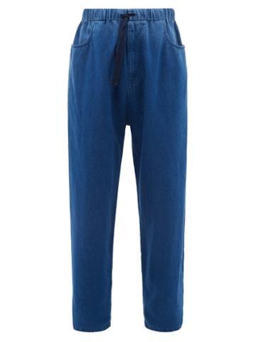 Matchesfashion.com Gucci - Oversized Drawstring Jeans - Mens - Blue