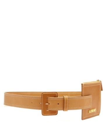 Matchesfashion.com Jacquemus - Ceinture Carre Leather Belt - Womens - Beige