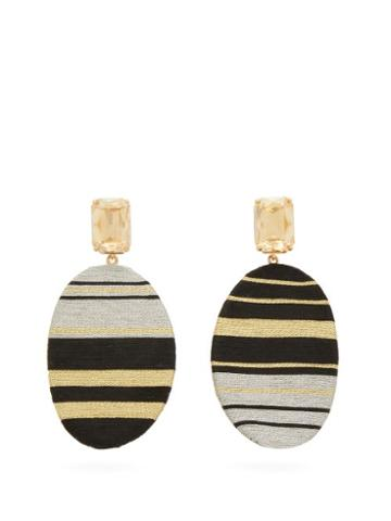 Matchesfashion.com Maryjane Claverol - Chong Stripe Clip Earrings - Womens - Gold
