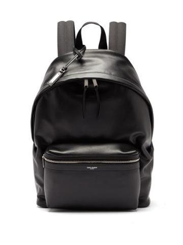 Matchesfashion.com Saint Laurent - City Leather Backpack - Mens - Black