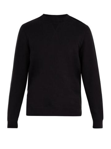 Matchesfashion.com Sunspel - Crew Neck Cotton Sweatshirt - Mens - Black