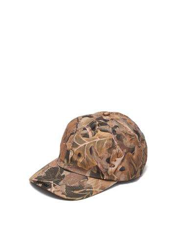 Heron Preston Leaf-print Cotton-blend Cap