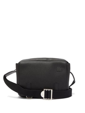 Matchesfashion.com Loewe - Grained Leather Messenger Bag - Mens - Black