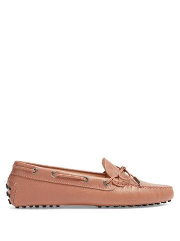 Tod's Gommini Saffiano-leather Loafers