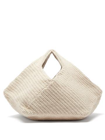 Lauren Manoogian - Pinwheel Hand-crocheted Cotton-blend Handbag - Womens - Beige