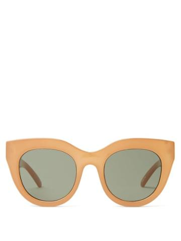 Matchesfashion.com Le Specs - Air Heart Oversized Cat-eye Sunglasses - Womens - Camel