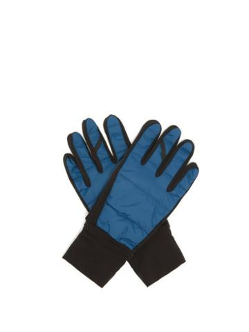 Matchesfashion.com Caf Du Cycliste - Classic Autumn Cycling Gloves - Mens - Blue