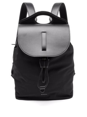 Mens Bags Burberry - Pocket Nylon And Leather Backpack - Mens - Black