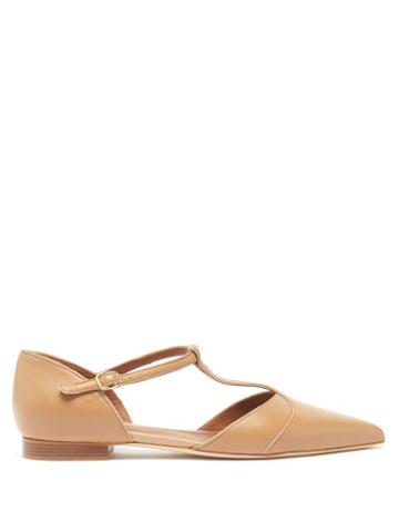 Malone Souliers - Immy Point-toe Leather Flats - Womens - Nude
