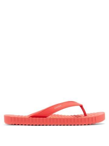 Matchesfashion.com Suicoke - Von Ribbed-sole Flip Flops - Mens - Red