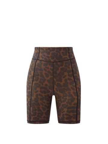 Matchesfashion.com The Upside - Leopard-print Stretch-jersey Cycling Shorts - Womens - Leopard