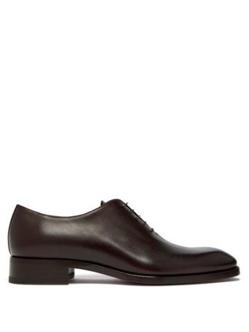 Matchesfashion.com Christian Louboutin - Corteo Leather Oxford Shoes - Mens - Dark Brown