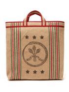 Matchesfashion.com Gucci - Ouroboros Print Jute Tote Bag - Mens - Beige