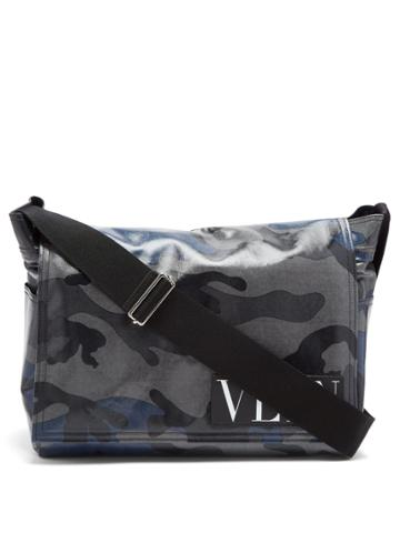 Valentino Camouflage-print Messenger Bag