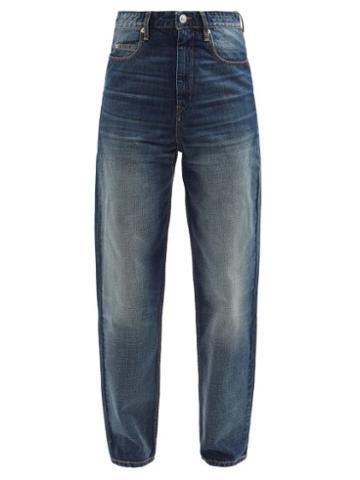 Isabel Marant Toile - Corsysr High-rise Tapered-leg Jeans - Womens - Mid Denim