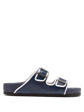 Matchesfashion.com Birkenstock X Il Dolce Far Niente - Arizona Fullex Leather Sandals - Womens - Navy White