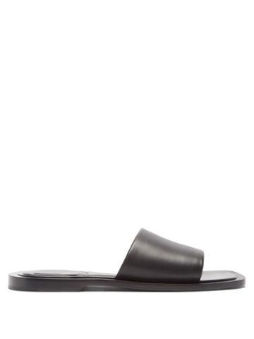 Balenciaga - Void Leather Slides - Mens - Black
