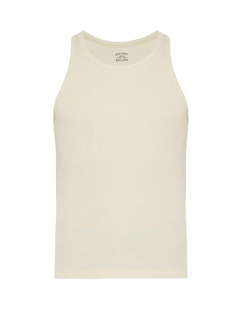 Matchesfashion.com Holiday Boileau - Ribbed Cotton Tank Top - Mens - Cream