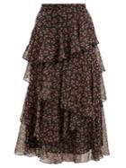 Alexachung Floral-print Chiffon Skirt