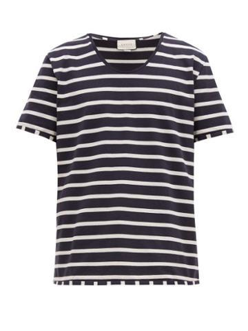 Matchesfashion.com Gucci - Striped Cotton Jersey T Shirt - Mens - Black White